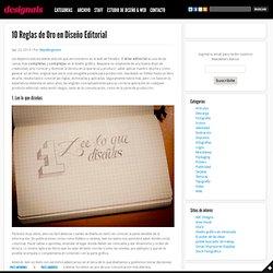 10 Reglas de Oro en Diseño Editorial