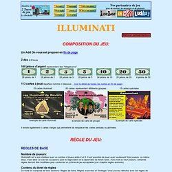 """règle du jeu de stratégie illuminati"""""""