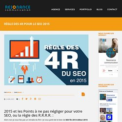 Règle des 4R pour le SEO 2015 - Résonance communication
