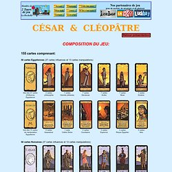 """Règle du jeu de stratégie """"César et Cléopâtre"""""""