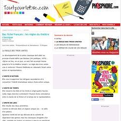 LA REGLE DES TROIS UNITES – Toutpourlebac.com