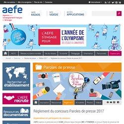 Concours Paroles de presse 2017 (Date limite : 25/03/2017)