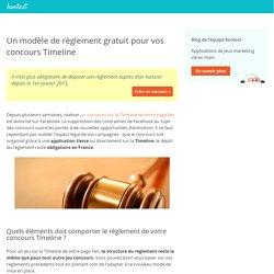 Un modèle de règlement gratuit pour vos concours Timeline
