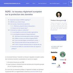 RGPD : le nouveau règlement européen sur la protection des données
