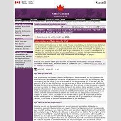 Règlement sur les produits de santé naturels - Qu'est-ce qu'une loi? Qu'est-ce qu'un règlement?