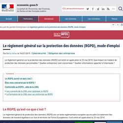 Le règlement général sur la protection des données (RGPD), mode d'emploi