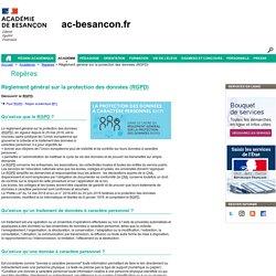 Règlement général sur la protection des données (RGPD) - Rectorat de l'académie de Besançon - RGPD