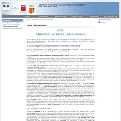 Cadre réglementaire - Centre de ressources sur les plans de déplacements (PDE/PDA/PDIE)