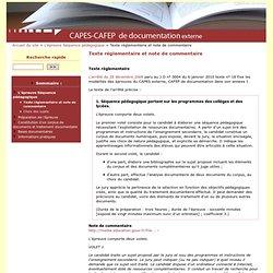 Texte réglementaire et note de commentaire