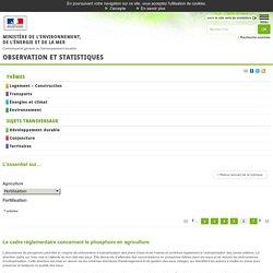 MEDM 06/05/15 Le cadre réglementaire concernant le phosphore en agriculture