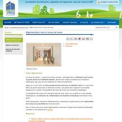 Réglementation accessibilité lieux et locaux de travail