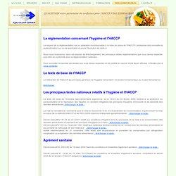 REGLEMENTATION - HACCP, ISO 22000 et ISO 9001 en Algérie, formation et accompagnement terrain