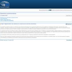 PARLEMENT EUROPEEN - Réponse à question E-007709-16 Réglementation des matériaux en contact avec les denrées alimentaires