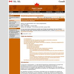 SANTE CANADA 18/06/13 Note de réévaluation REV2013-01, Plan de gestion des risques concernant le diazinon