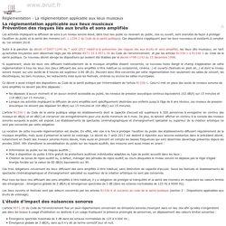 Réglementation - La réglementation applicable aux lieux musicaux