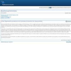 PARLEMENT EUROPEEN - Réponse à question E-005071/2012 Réglementation européenne sur les brumisateurs et prévention des risques s