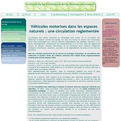 Réglementation de la circulation motorisée dans les espaces naturels