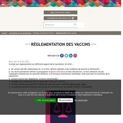 Réglementation des vaccins