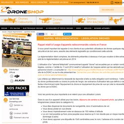 Reglementation Drones