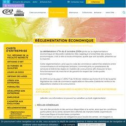 Réglementation économique - CMA NC