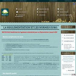 Recycl'eau.fr - Traitement des eaux, réglementation et les normes européennes