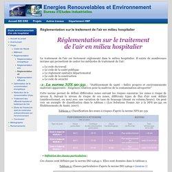 Réglementation sur le traitement de l'air en milieu hospitalier