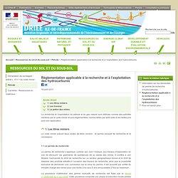 Réglementation applicable à la recherche et à l'exploitation des hydrocarbures