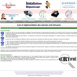 Lois et réglementation des alarmes anti-intrusion