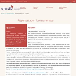 Réglementation livre numérique - 2018