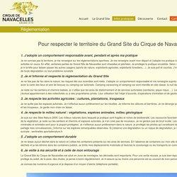 La Règlementation sur le Grand Site du Cirque de Navacelles
