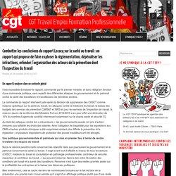 Combattre les conclusions du rapport Lecocq sur la santé au travail : un rapport qui propose de faire exploser la réglementation, dépénaliser les infractions, refonder l'organisation des acteurs de la prévention dont l'inspection du travail – CGT Travail