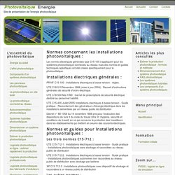 Réglementation et normes photovoltaïques