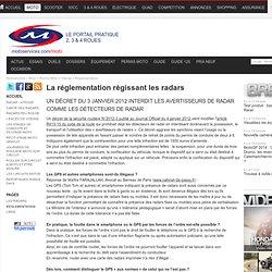 La réglementation régissant les radars
