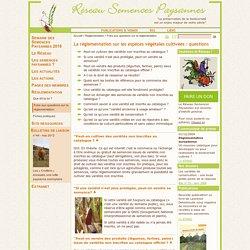 Réglementation des semences