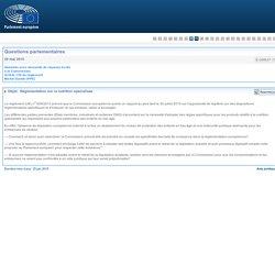 PARLEMENT EUROPEEN - Réponse à question E-008637-15 Réglementation sur la nutrition spécialisée