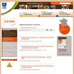 Réglementation termite - loi termite - CTBA+