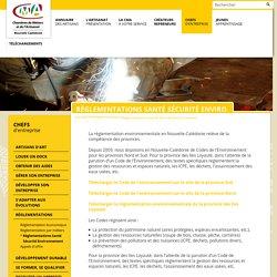 CMA - Chambre de Métiers et de l'Artisanat - Nouvelle Calédonie - Règlementations Santé Sécurité Environnement