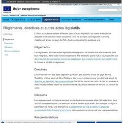 EUROPA - Règlements, directives et autres actes législatifs