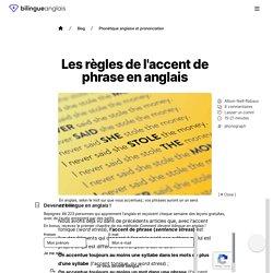 Les règles de l'accent de phrase en anglais
