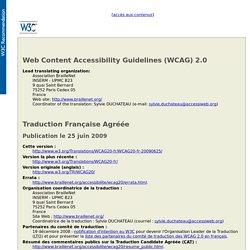 Règles pour l'accessibilité des contenus Web (WCAG) 2.0