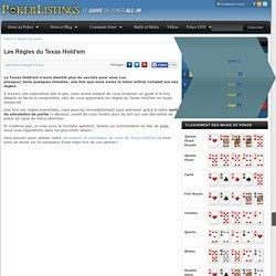 Les Règles complètes du Texas Hold'em