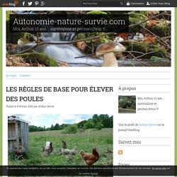 LES RÈGLES DE BASE POUR ÉLEVER DES POULES - Autonomie-nature-survie.com