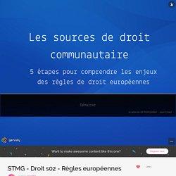 STMG - Droit s02 - Règles européennes by jgrard66 on Genial.ly