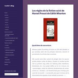 Les règles de la fiction suivi de Marcel Proust de Edith Wharton