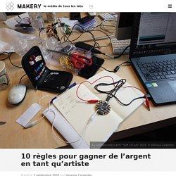 10 règles pour gagner de l'argent en tant qu'artiste : Makery