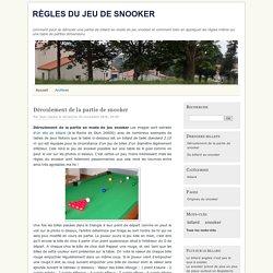 Règles du jeu de snooker