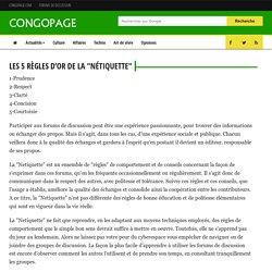"""Les 5 règles d'or de la """"Nétiquette"""" - Congopage"""