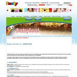 SMOBY - Règles officielles du Babyfoot
