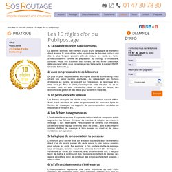 10 Règles d'or du Publipostage - SOS Routage