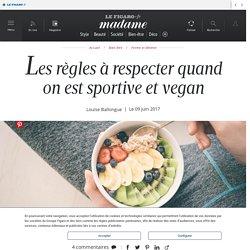 Les règles à respecter quand on est sportive et vegan - Madame...